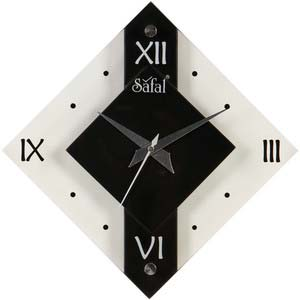 safal black wall clock 3739