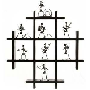 safal black wooden wall shelf 1130