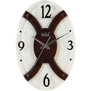 safal brown and white wall clock 1081