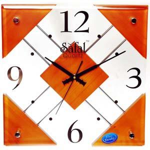 safal brown quartz wall clock 1004
