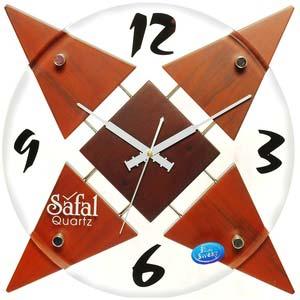 safal brown quartz wall clock 1006