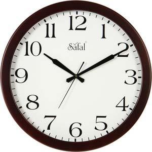 safal brown round wall clock 1077