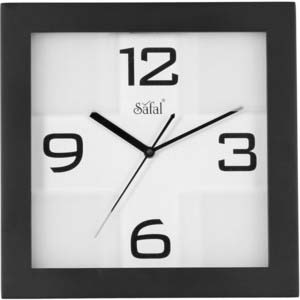 safal brown square wall clock 1071