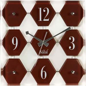 safal brown wall clock 1054