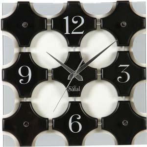 safal brown wall clock 1056
