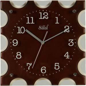 safal brown wall clock 1084