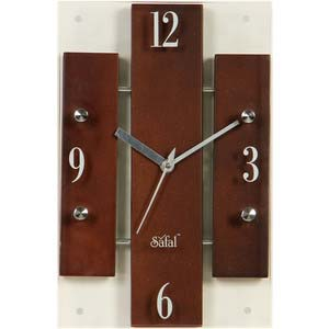 safal brown wall clock 3339