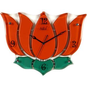 safal lotus multicolor wall clock 1049
