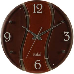 safal multicolor round wall clock 1052