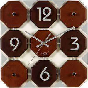 safal multicolor square contemporary wall clock 1055