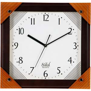 safal multicolor square wall clock 1061
