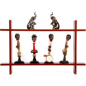 safal multicolor wooden wall shelf 1110