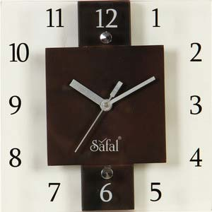 safal square wall clock 3639