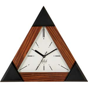 safal triangle brown wall clock 1044