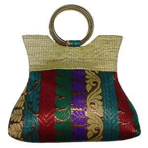 sg multicolor brocade purse