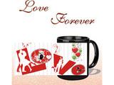 L O V E Forever Black Mug