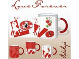L O V E Forever Red Magic Mug