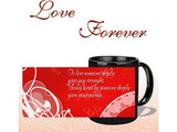 Love Some One Deeply Black Mug