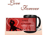 Always In My Heart Black Mug