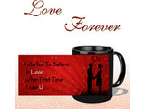 Believe In Love Black Mug