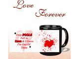 Fall In Love Black Mug