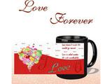 I Love You Forever Black Mug