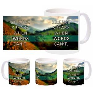 silence words mug