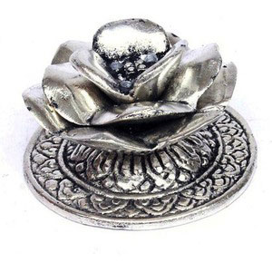 silver lotus insence holder gift