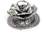 Silver Lotus Insence Holder