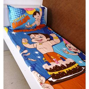 single bed sheet chotta bheem birthday blue