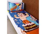 Single Bed Sheet Chhota Bheem Birthday Blue