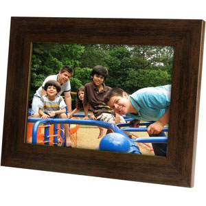 single picture frame 5x7 brown collage frame