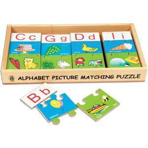 skillofun alphabet picture matching puzzle strips