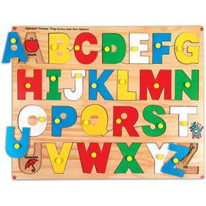 skillofun alphabet picture tray with knobs