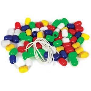 skillofun beads plastic oval
