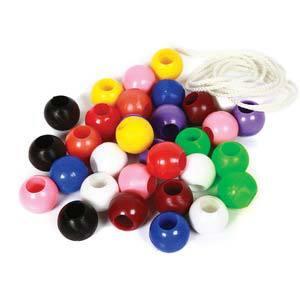 skillofun beads plastic round