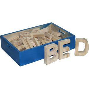 skillofun capital abc cutout block a z in wooden box 125mm tall