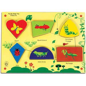 skillofun fun geo shape tray insects raised