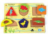 Skillofun Fun Geo Shape Tray - Water Animals (Raised)