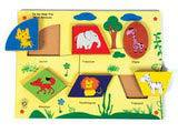 Skillofun Fun Geo Shape Tray - Wild Animals (Raised)