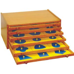 skillofun geometric cabinet 3 drawers and 33 insets 3 blanks
