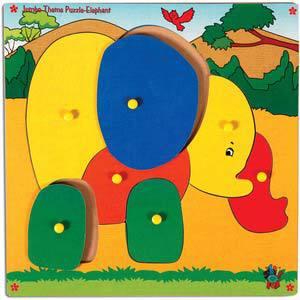 skillofun jumbo theme puzzle elephant