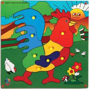 skillofun jumbo theme puzzle rooster