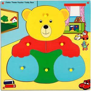 skillofun jumbo theme puzzle teddy bear