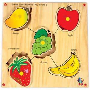 skillofun junior identification tray fruits i mango