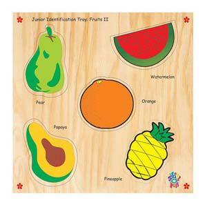 skillofun junior identification tray fruits ii pear