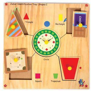 skillofun junior identification tray shapes around us i triangle