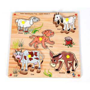 skillofun junior identification tray useful animals i goat
