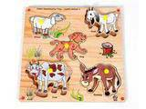Skillofun Junior Identification Tray - Useful Animals - II (Elephant)