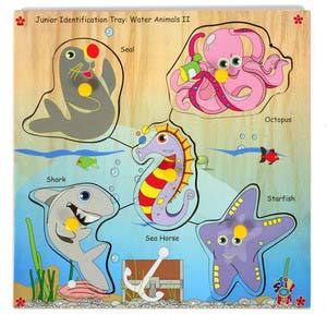 skillofun junior identification tray water animals ii seal